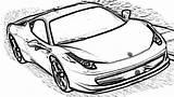 Ferrari Coloring Pages Cars 458 Italia sketch template
