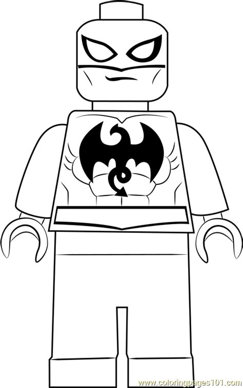 lego iron fist coloring page  lego coloring pages coloringpagescom