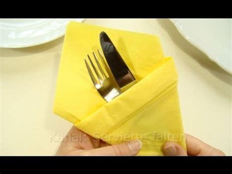 papierservietten falten bestecktasche bestecktasche falten aus servietten
