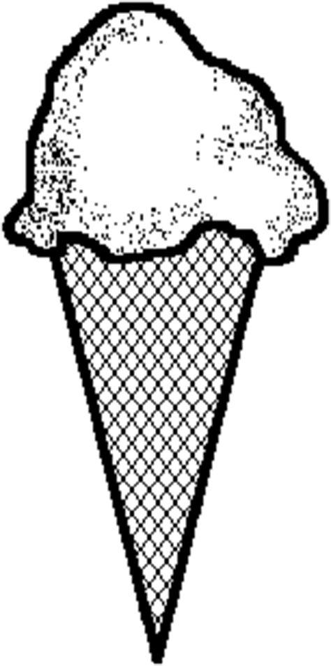 Ice Cream Cone Black And White