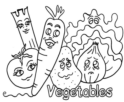 coloring pages  vegetable   beneficial  boys