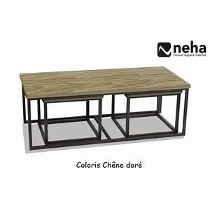Table Gigogne Industriel : tables basses gigogne cheap tables basses gigognes avec ~ Teatrodelosmanantiales.com Idées de Décoration