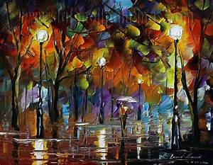 Modern impressionism palette knife oil painting on canvas ...