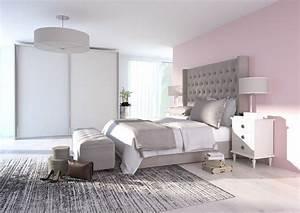 le gris en deco le mag visiondeco With chambre grise et rose poudre