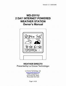 Internet-powered Weather Station Wd-2511u Manuals