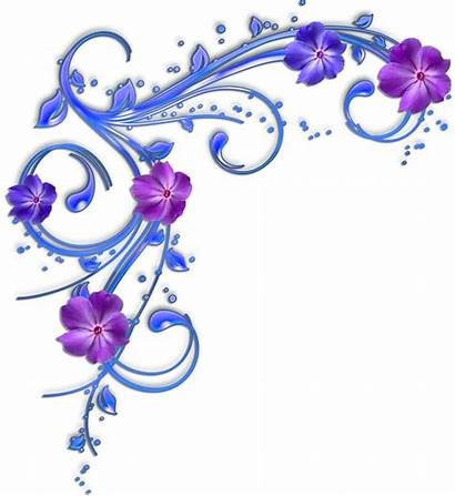 Border Flower Clipart Purple Flowers Clip Borders