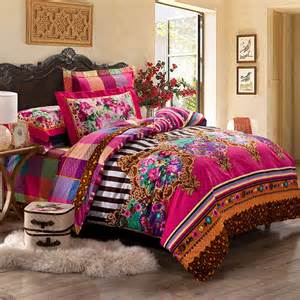 girls colorful western indian tribal print classic and luxurious twin full queen size bedding sets