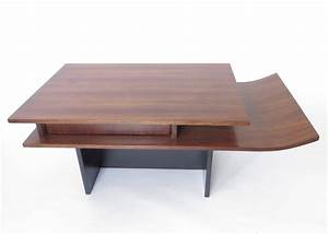 italian two level rosewood coffee table with one drawer on With two level coffee table