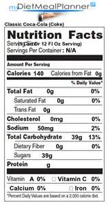 butterball cooked turkey sodas classic coca cola coke detailed nutrition facts
