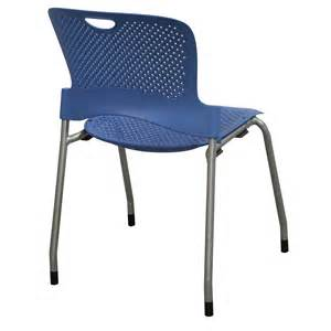 herman miller caper used armless stack chair blue