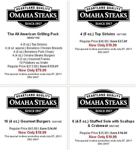 Omaha Steaks Coupons (2 Available) - Coupon Girl