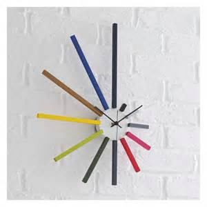 yellow kitchen ideas spectrum multi coloured spoke wall clock buy now at