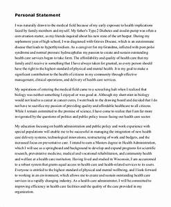 Free 9  Sample Personal Statement Templates In Ms Word