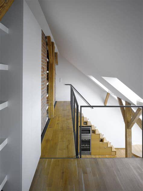 small attic loft apartment  prague idesignarch
