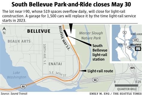 Light Rail Bellevue by Park And Ride Closure In Bellevue Commuters Angry
