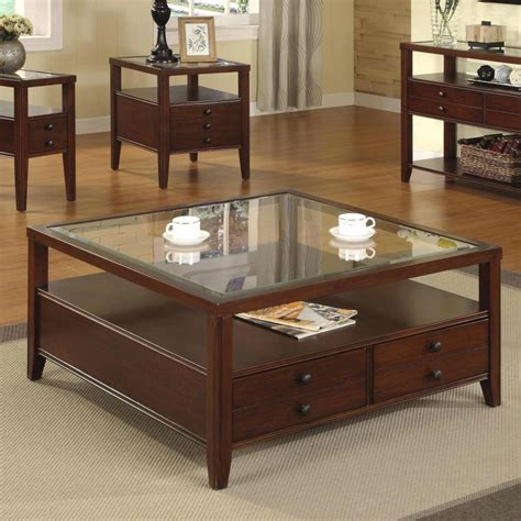 We have lift top coffee tables, for some extra storage, square we have round wood coffee tables, and wood and glass coffee tables, rectangle coffee tables, and coffee tables with drawers. Unique Square Coffee Table With Storage For Living Room | Coffee table, Coffee table square ...