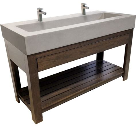 trough sink vanity with two faucets farmhouse wall faucet kitchen lowe s vanity with trough