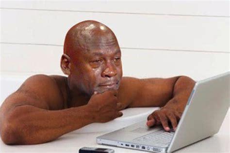 Jordan Crying Meme - college struggles as told by crying michael jordan odyssey