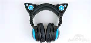 cat headphones gift ideas for cat ear headphones from brookstone