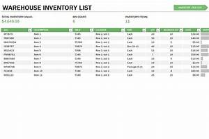 Fax Cover Page Word Template Warehouse Inventory Control Template
