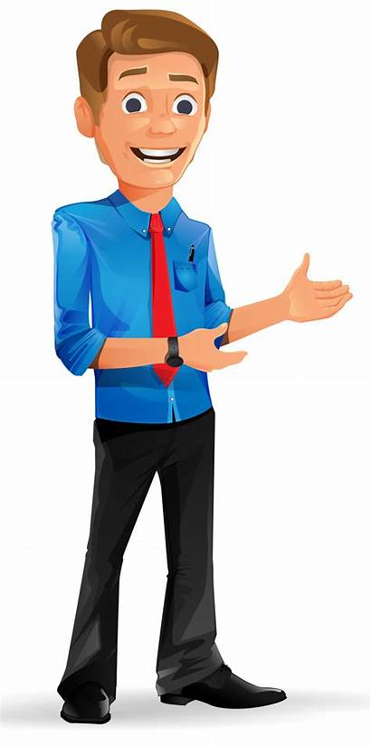 Cartoon Clipart Boy Handsome Character Drawing Businessman