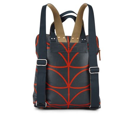 orla kiely backpack tote bag navy  bagcom