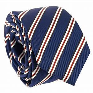 Navy Blue tie with stripes The Nines - House of ties