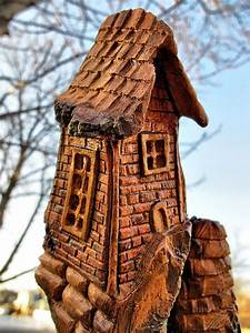 Whimsical Cottonwood Houses Carving Fairy Village