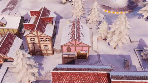 fortnite fortbyte     snowy town book shop