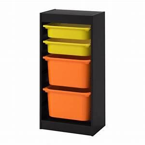Spielzeug Aufbewahrung Ikea : trofast aufbewahrung mit boxen schwarz gelb orange ikea ~ Michelbontemps.com Haus und Dekorationen