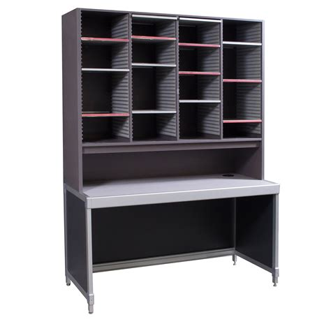 laminate  mail sorter storage desk gray national