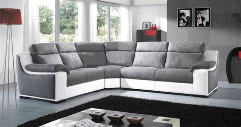 canapé d angle dossier haut angle habillage cuir microfibre ou mixte