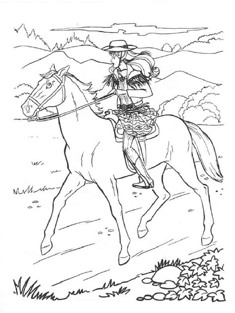 barbie  horse coloring pages  printable barbie