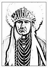 Native Coloring American Indian Adult Pages Americans Indians Adults sketch template