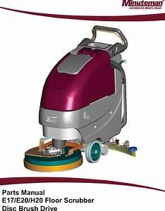 988720 Parts Manual E1720 H20 Floor Scrubber Rev N