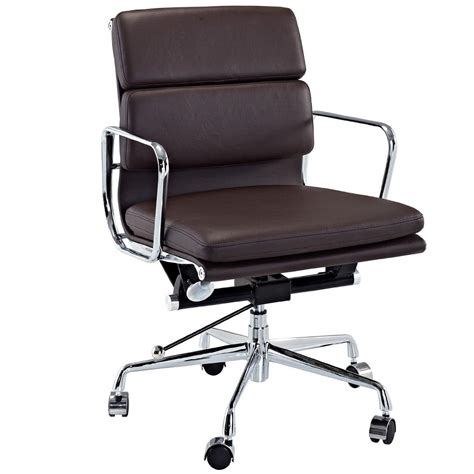 modway discovery mid back leather conference