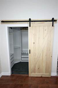 Installing a sliding barn door in the home love create for Barn door installation video