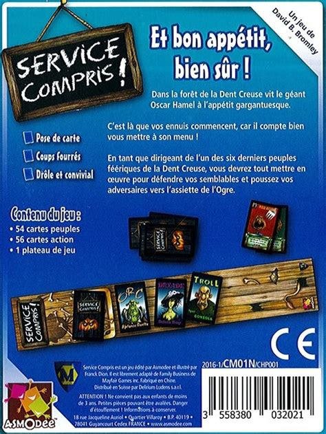 Service Compris by Service Compris Asmodee Jeux De Soci 233 T 233 Acheter Sur