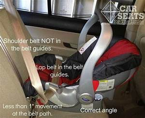 Installing A Rear Facing Only Seat Without The Base