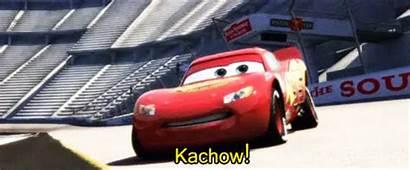 Cars Mcqueen Kachow Disney Lightning Gifs Pixar