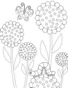 flower trace worksheet crafts  worksheets  preschooltoddler  kindergarten