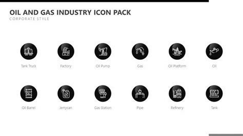 Oil And Gas Industry Icon Free Powerpoint Template