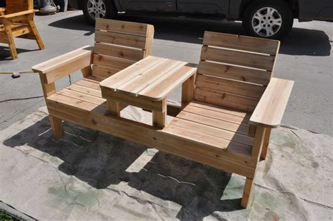 Free Pallet Outdoor Furniture Plans by How To Build A Chair Bench With Table Free Plans