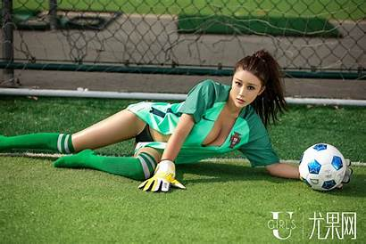 Thigh Soccer Socks Knee Highs Brunette Ponytail
