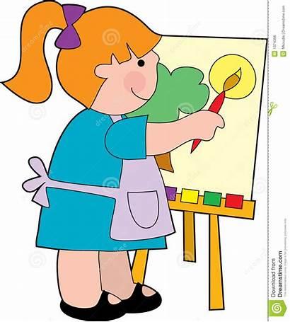 Clipart Painter Painting Het Ragazza Pittura Della