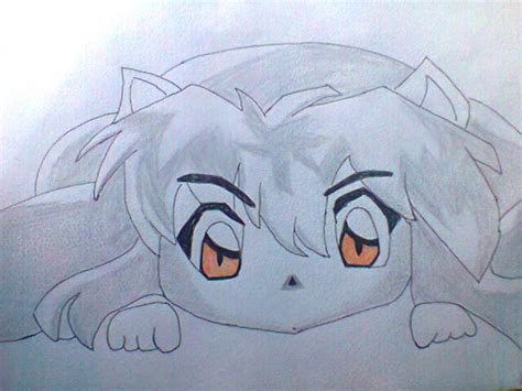 dibujo de inuyasha tierno por alexiis dibujando