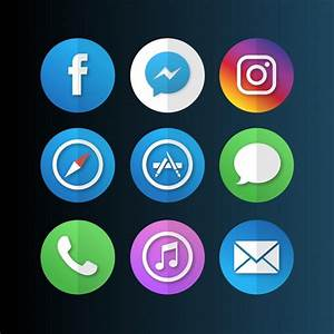 Mobile app icons Vector   Free Download