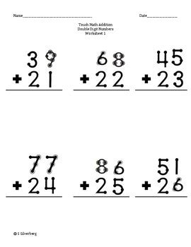 touch math digit addition touch math addition adding digit numbers with