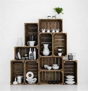 Idee Deco Avec Des Photos : deco avec cagette bois ~ Zukunftsfamilie.com Idées de Décoration