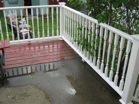 Thus, if one side of your deck is 16 ft (4.9 m), you will only need to mount one post in the center. Deck Railing Code Spacing | Home Design Ideas